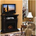 ClassicFlame Corinth  Remote Operated Wall or Corner Electric Fireplace  - Shown as a Corner Unit