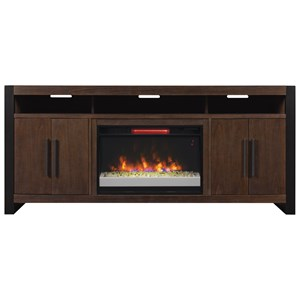 "ClassicFlame Costa Mesa 72"" Media Mantel w/ Fireplace Insert"