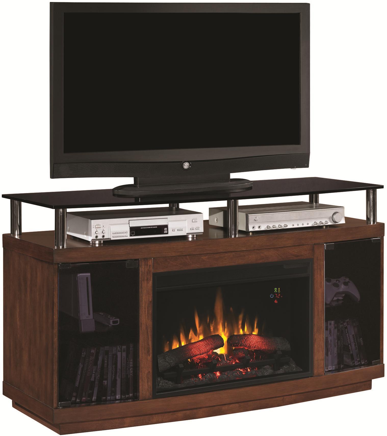 ClassicFlame Drew Drew Electric Fireplace - Item Number: 26MM9405-W324+26EF023GRG