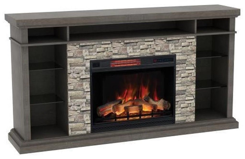 Elli Elli Fire Plance Media Mantel by ClassicFlame at Morris Home