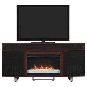 ClassicFlame Enterprise Media Mantel Fireplace With Speakers