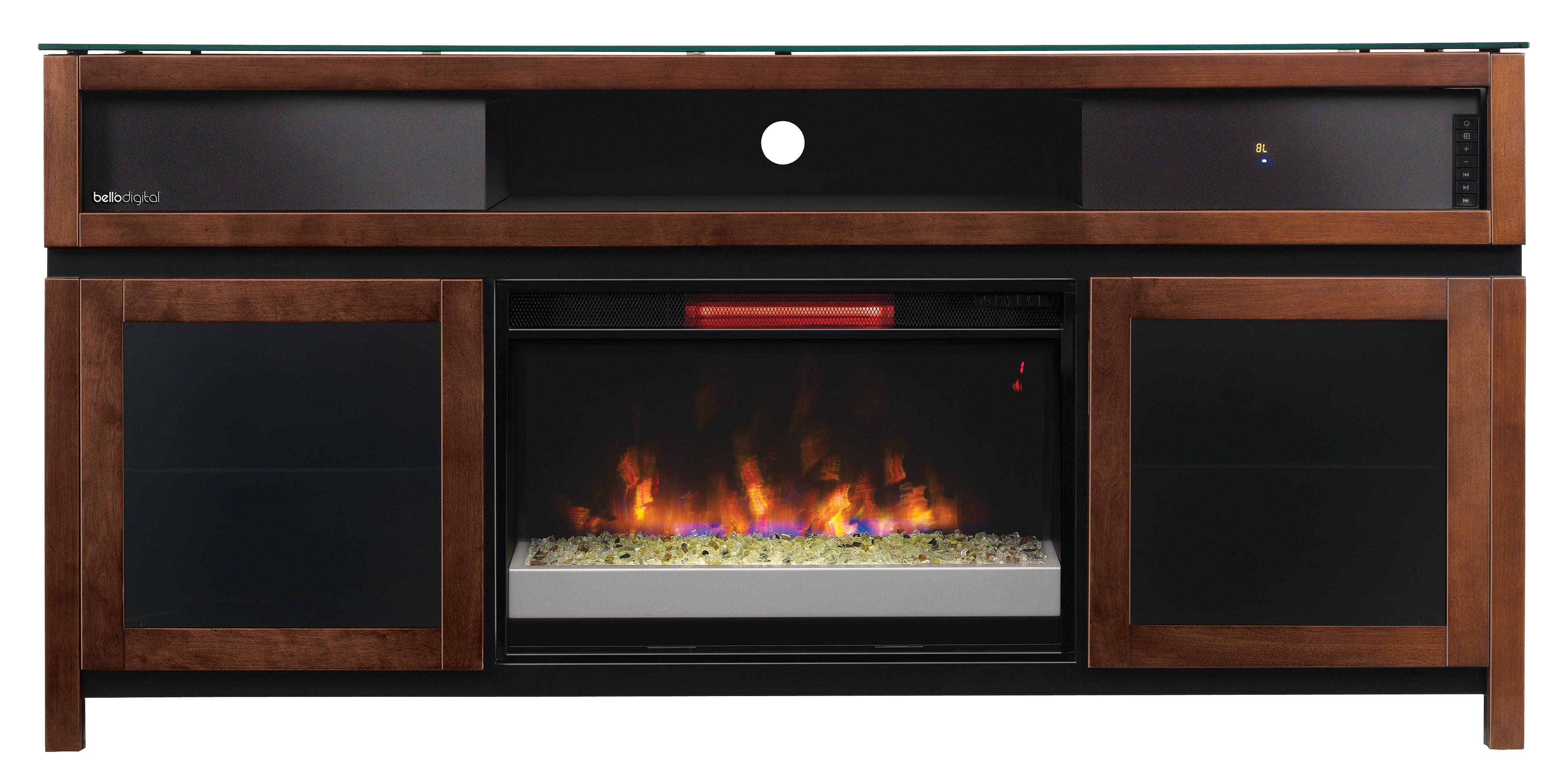 Morris Home Furnishings Gasquet Gasquet Console with Fireplace Insert - Item Number: 571918677