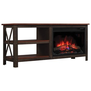ClassicFlame Grainger Industrial Media Mantle Fireplace