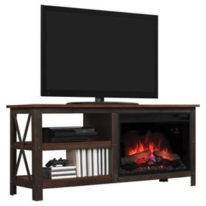 Morris Home Grainger Industrial Media Mantle Fireplace