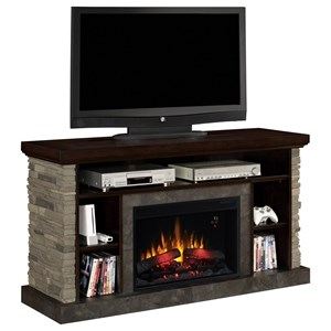 ClassicFlame Matterhorn Stone Media Mantle Fireplace