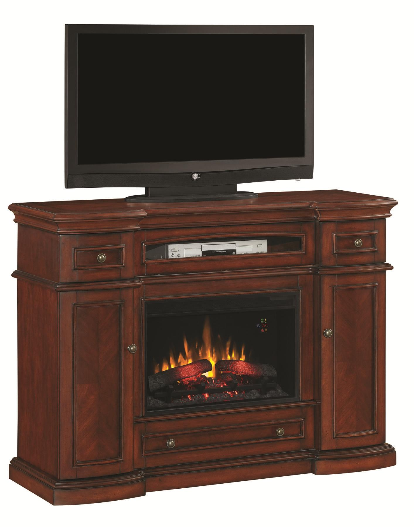 ClassicFlame Montgomery Fireplace Media Mantel - Item Number: 26MM2490-C233+26EF023GRA