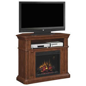 ClassicFlame Oakfield Corner Media Mantle Fireplace
