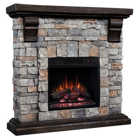 """40"""" Media Mantel with Electric Insert"""