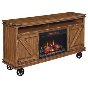 ClassicFlame Rockfall Media Mantel Fireplace