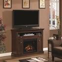 Morris Home Furnishings Windsor Dual Entertain Media Fireplace Mantel