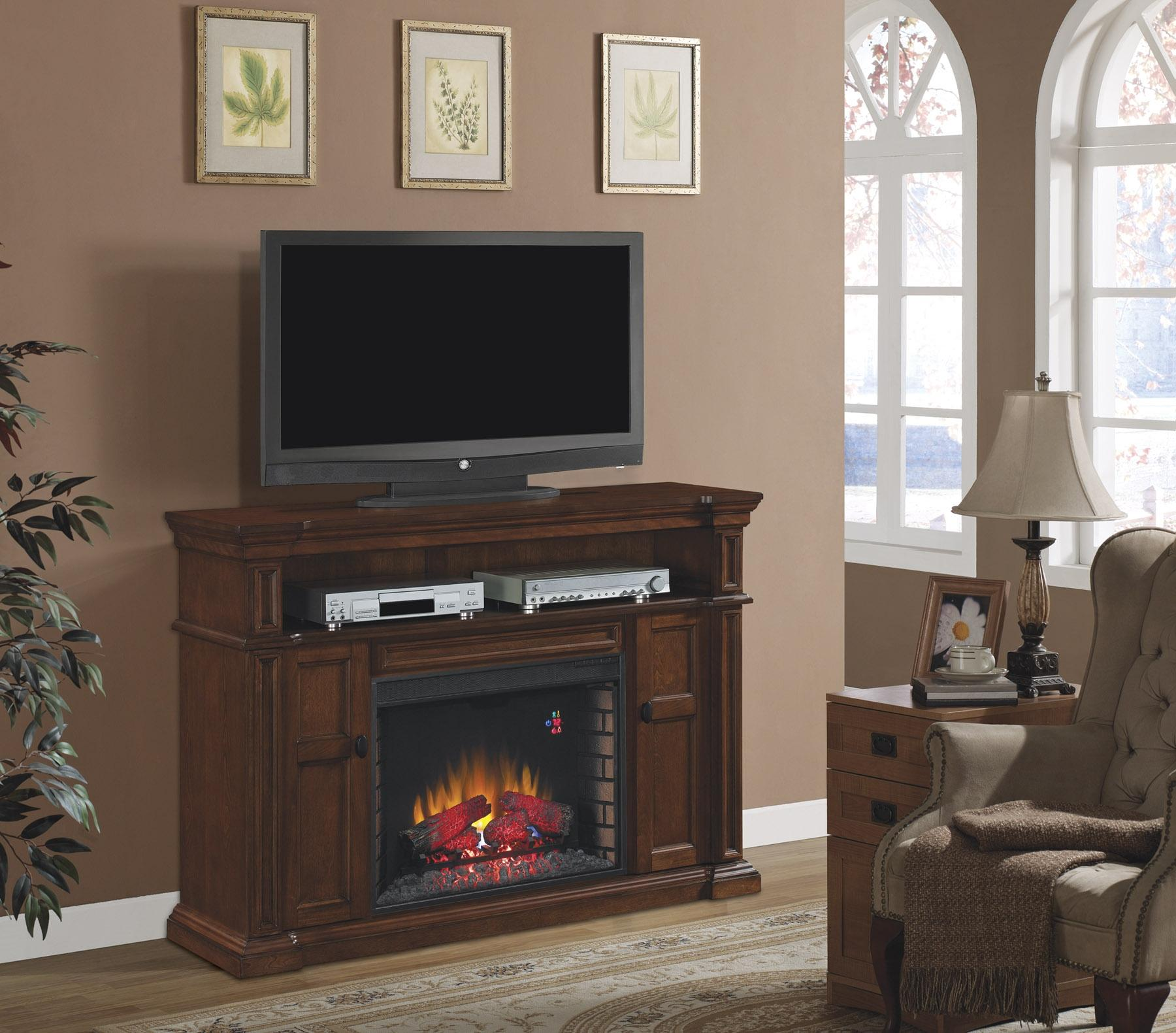 Morris Home Furnishings Ithaca Ithaca 2pc Fireplace w/Insert - Item Number: 28MM4684-M313/28II300GRA