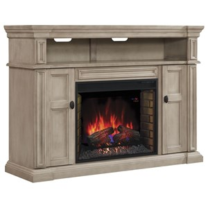 Morris Home Wyatt Fireplace TV Console Mantel & Insert