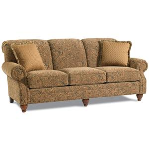 Clementine 3274 Traditional Queen Sleeper Sofa With Rolled Arms By Clayton Marcus