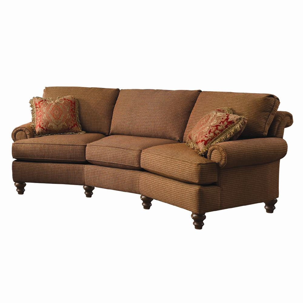 Colbert Conversation Sofa With Turned Feet By Clayton Marcus