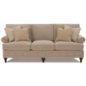 Kensington Collection - Gerrard Casual Loose Pillow Back Sofa with Decorative Button Bench Trim by Clayton Marcus