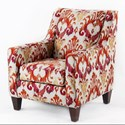 CMI Classic Chair Accents Club Chair - Item Number: CC2420-Red Ikat