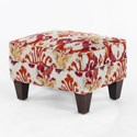 CMI Classic Chair Accents Ottoman - Item Number: CC2421-Red Ikat