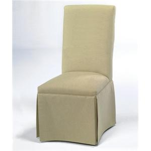 CMI Parson Chairs Skirted Side Dining Chair
