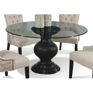 "CMI Serena 60"" Round Glass Dining Table"