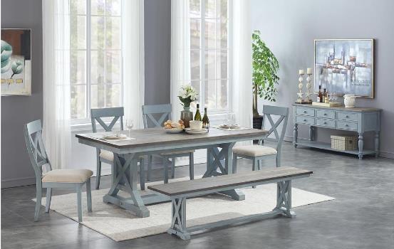 4029 Table x  4 Chairs x Bench by Coast to Coast Furnishings at Furniture Fair - North Carolina