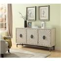 Coast to Coast Imports 22568 Three Door Credenza - Item Number: 22568credenza
