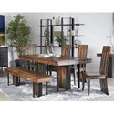 Coast to Coast Imports 37110 Table and Chair Set with Bench - Item Number: 37111+4x37113+37112
