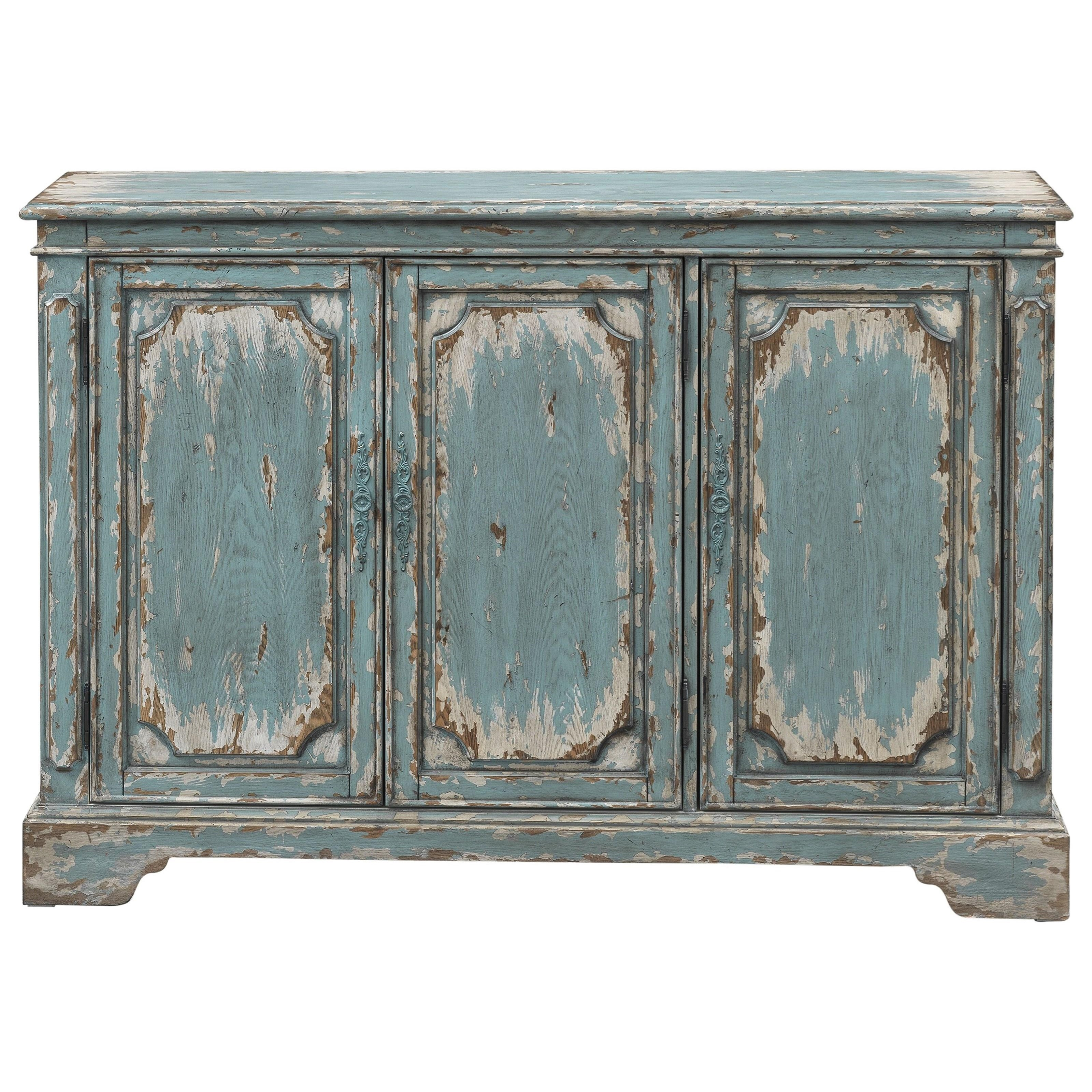 4020 3-Door Media Credenza by Coast to Coast Imports at Corner Furniture