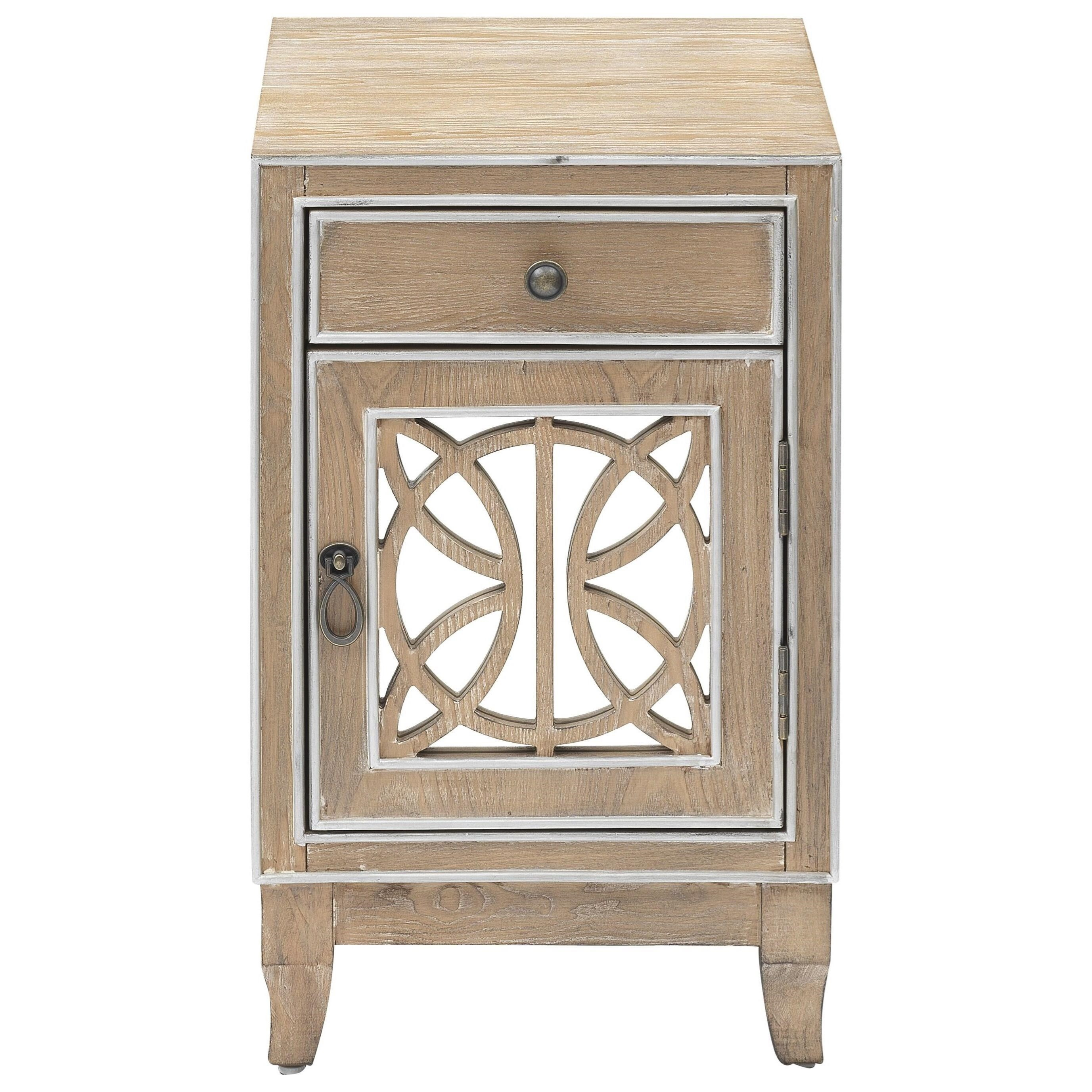 1-Door 1-Drawer Chairside Cabinet