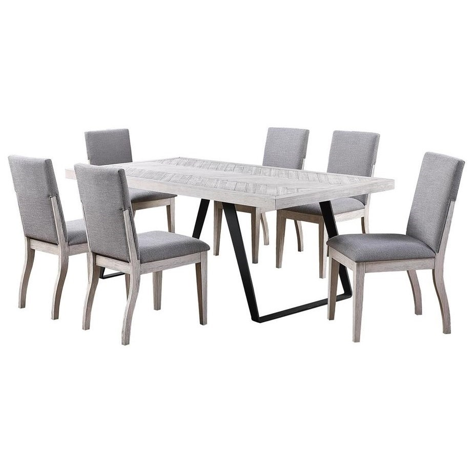Aspen Court II 7-Piece Table and Chair Set by C2C at Walker's Furniture