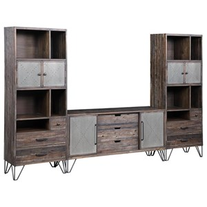 Industrial Entertainment Wall Unit