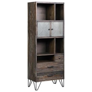 Two Door Three Drawer Bookcase/Pier