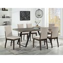 Coast to Coast Imports Aspen Court 7-Piece Table and Chair Set - Item Number: 36616+3x40274
