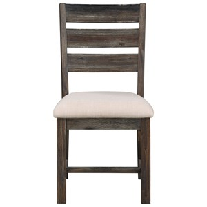 Contemporary Slat Back Dining Chair 2-Pack