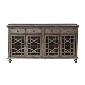 Coast to Coast Imports Accents 4 Door Media Credenza