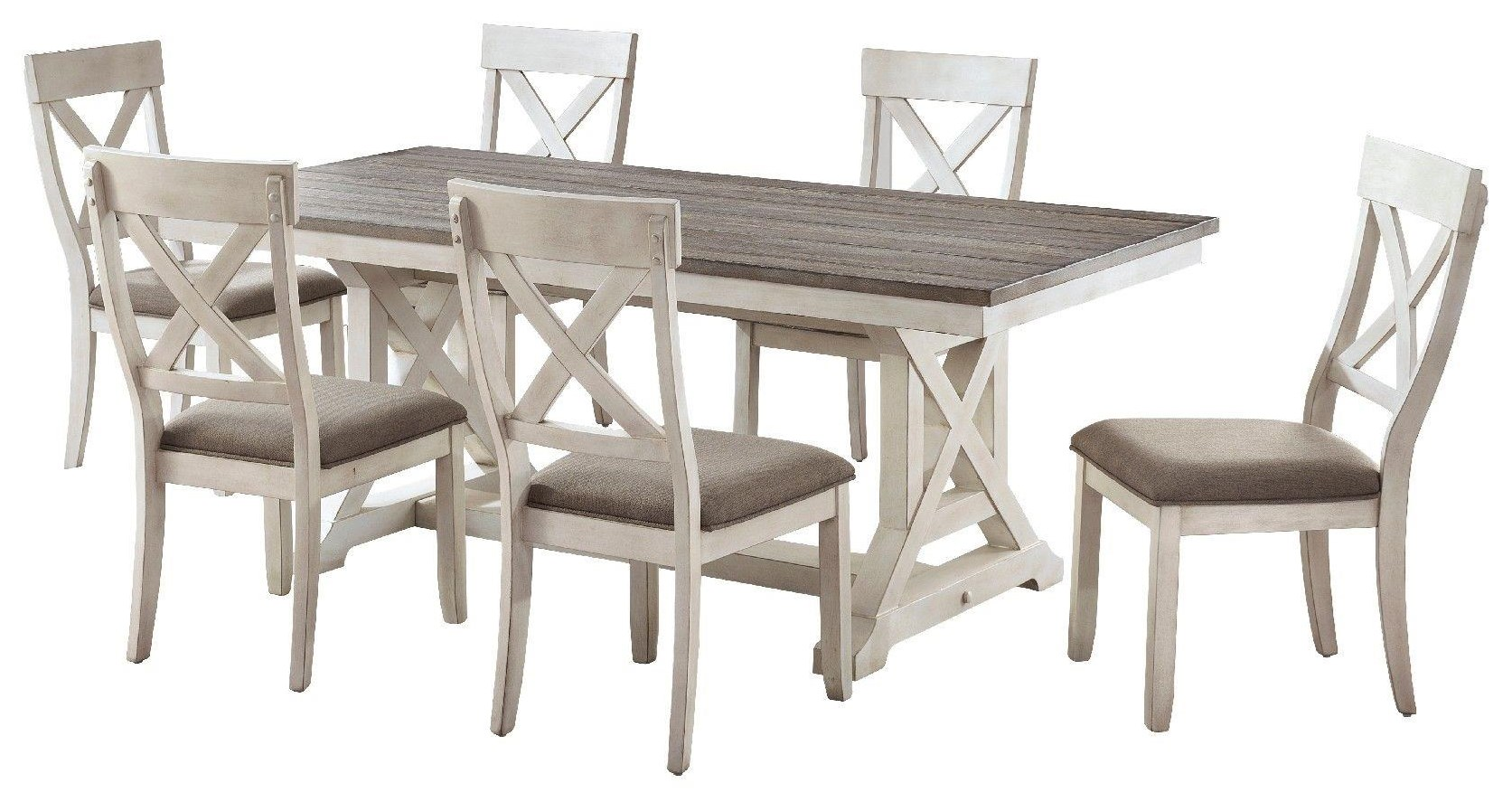 Bar Harbor II RECTANGLE TABLE And 4 SIDE CHAIR by Coast to Coast Imports at Johnny Janosik