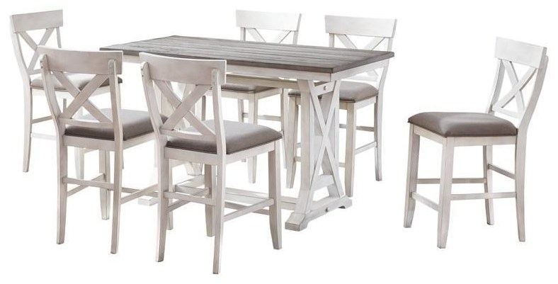 COUNTER HEIGHT TABLE With 4 STOOLS