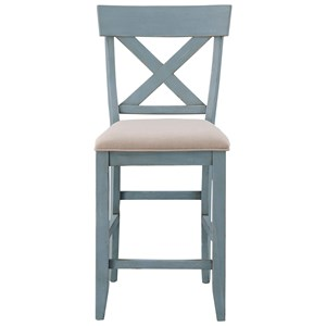 Counter Height Dining Chair with Upholstered Seat