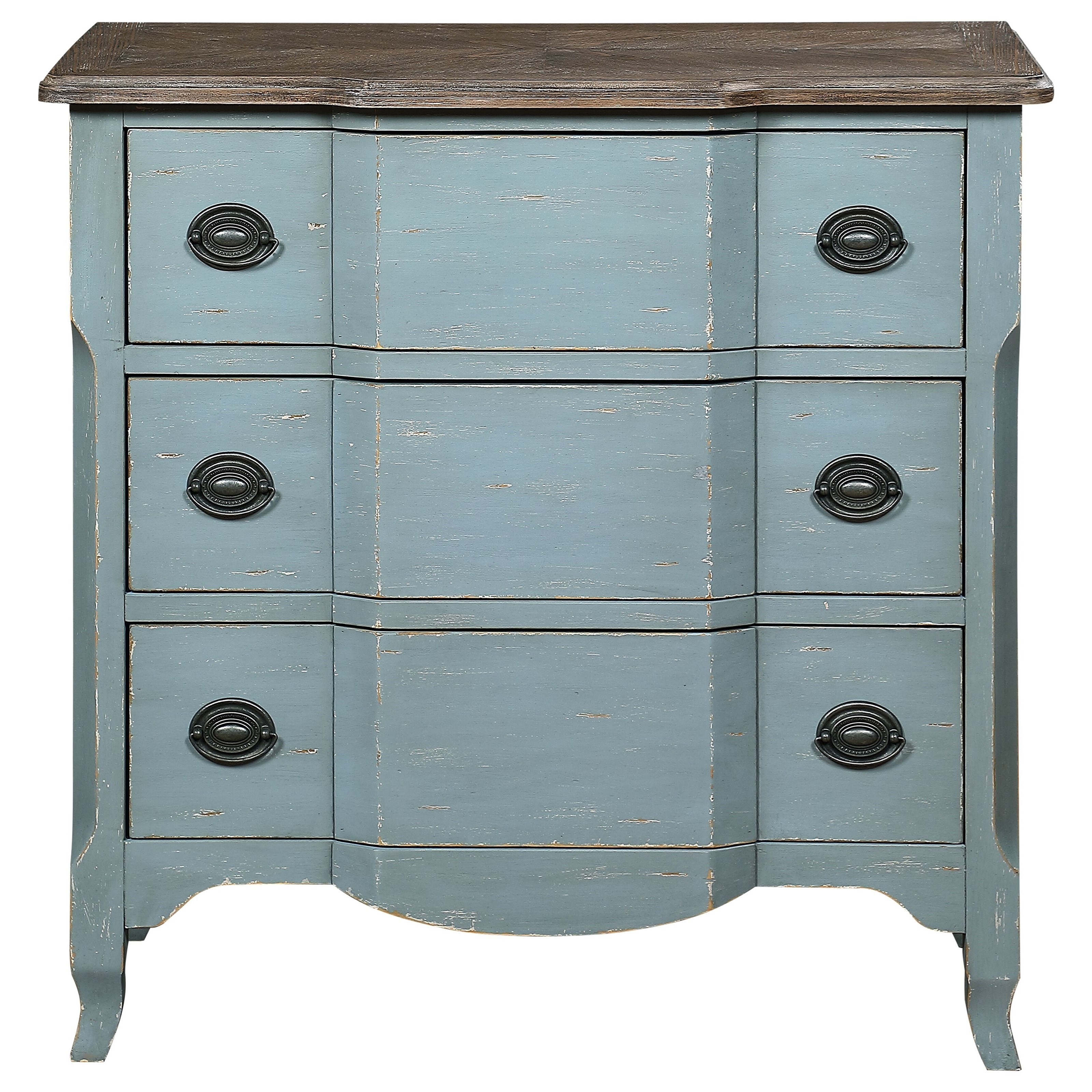 Bar Harbor Three Drawer Chest by Coast to Coast Imports at Zak's Home