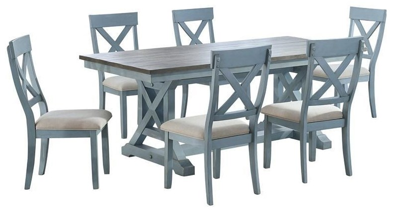 Bar Harbor Rectangle Table And 4 Side Chair by Coast to Coast Imports at Johnny Janosik