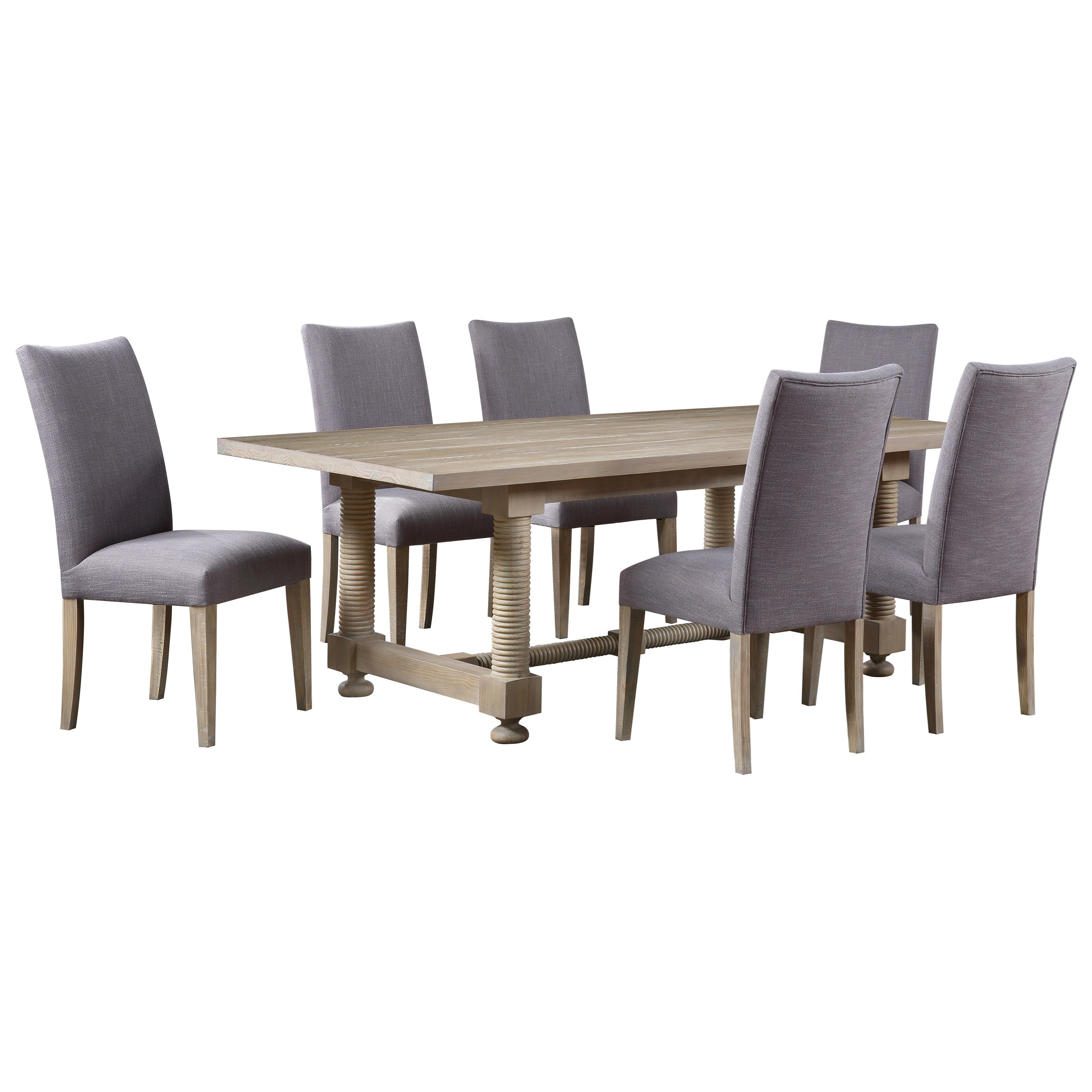 Barrister 7-Piece Table and Chair Set by Coast to Coast Imports at Johnny Janosik