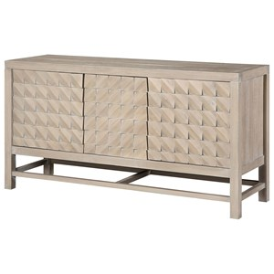 Contemporary 3-Door Media Credenza