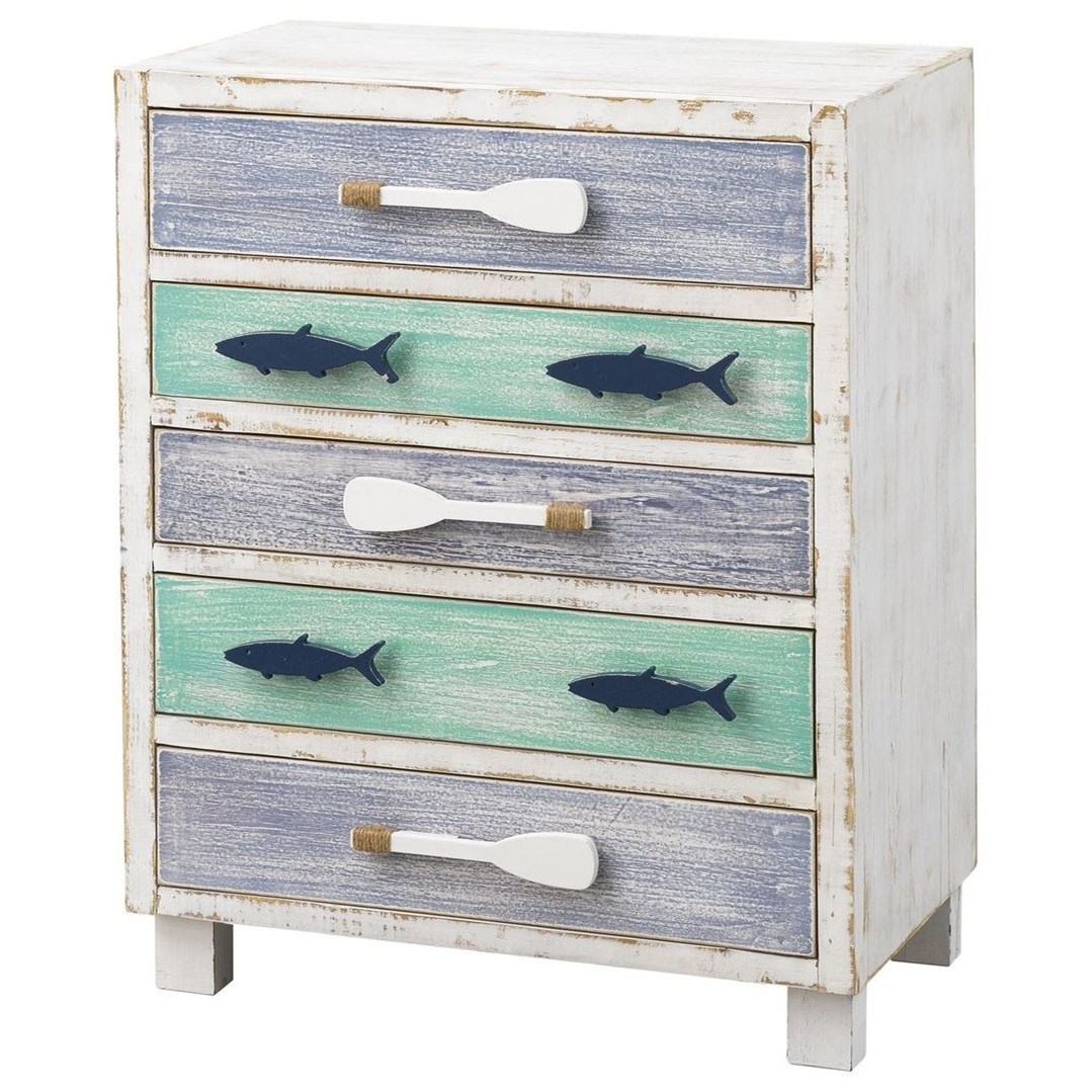Pieces in Paradise 5-Drawer Chest by Coast to Coast Imports at Johnny Janosik
