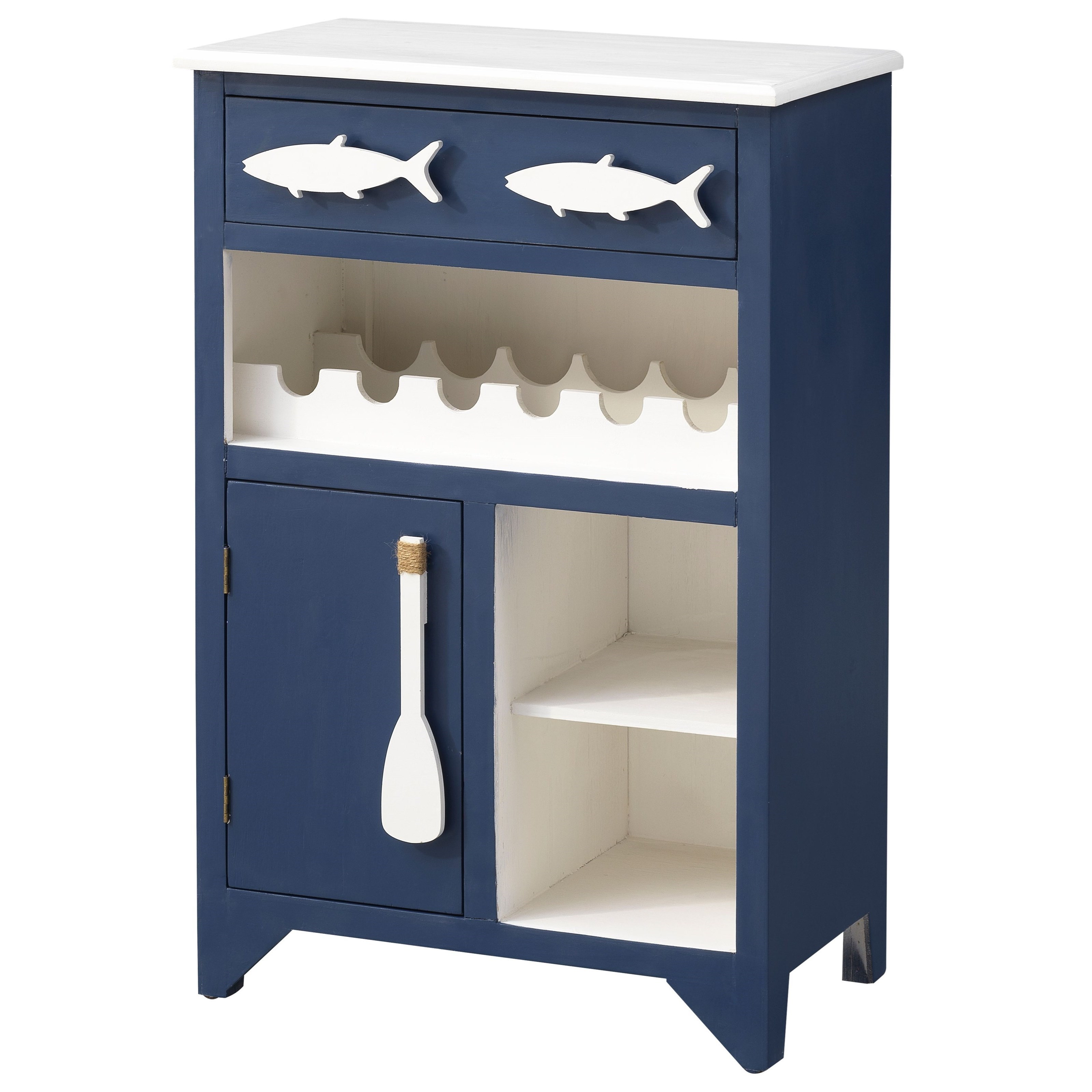 Pieces in Paradise 1-Drawer, 1-Door Wine Server by Coast to Coast Imports at Zak's Home