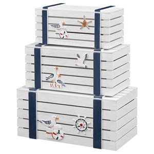 Coastal 3-Piece Nesting Trunks