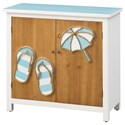 Coast to Coast Imports Pieces in Paradise 2-Door Cabinet - Item Number: 51523