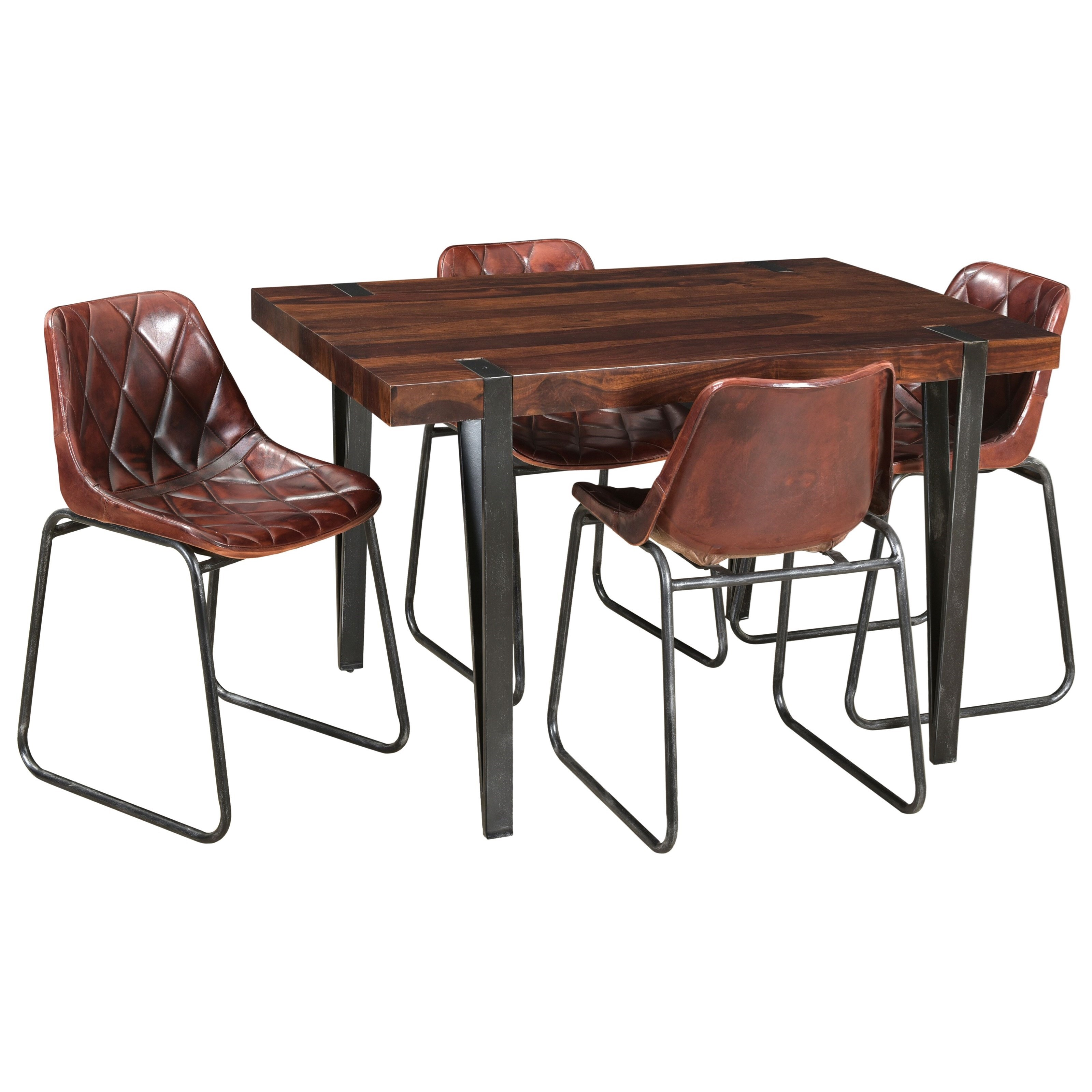 Coast To Coast Imports Bradley Mid Century Modern Table And Side Chair Set Story Lee Furniture Dining 5 Piece Sets