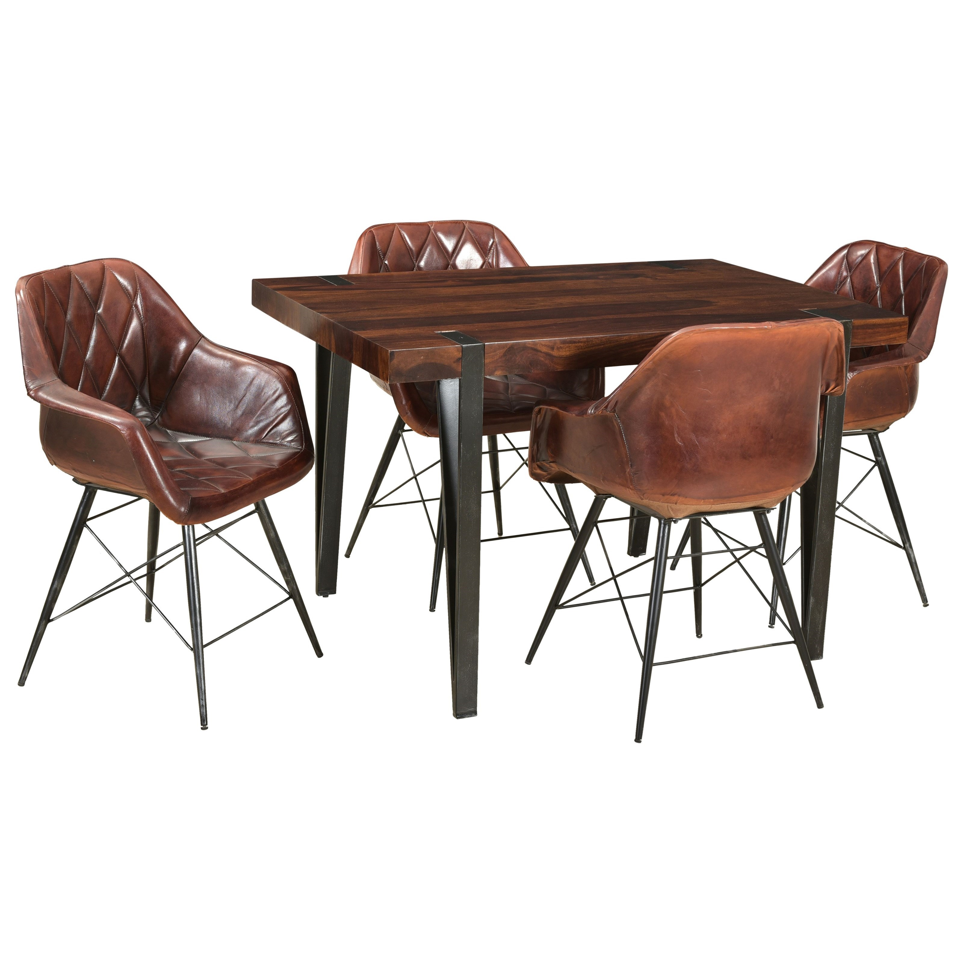 5-Piece Table and Arm Chair Set