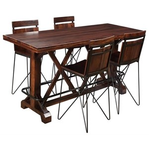 5-Piece Pub Table and Stool Set