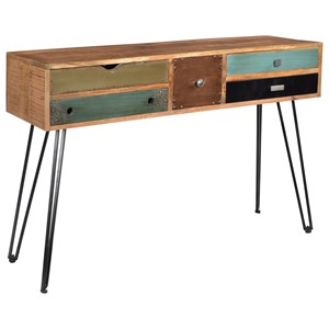 Coast to Coast Imports Brisbane Brisbane Five Drawer Console Table