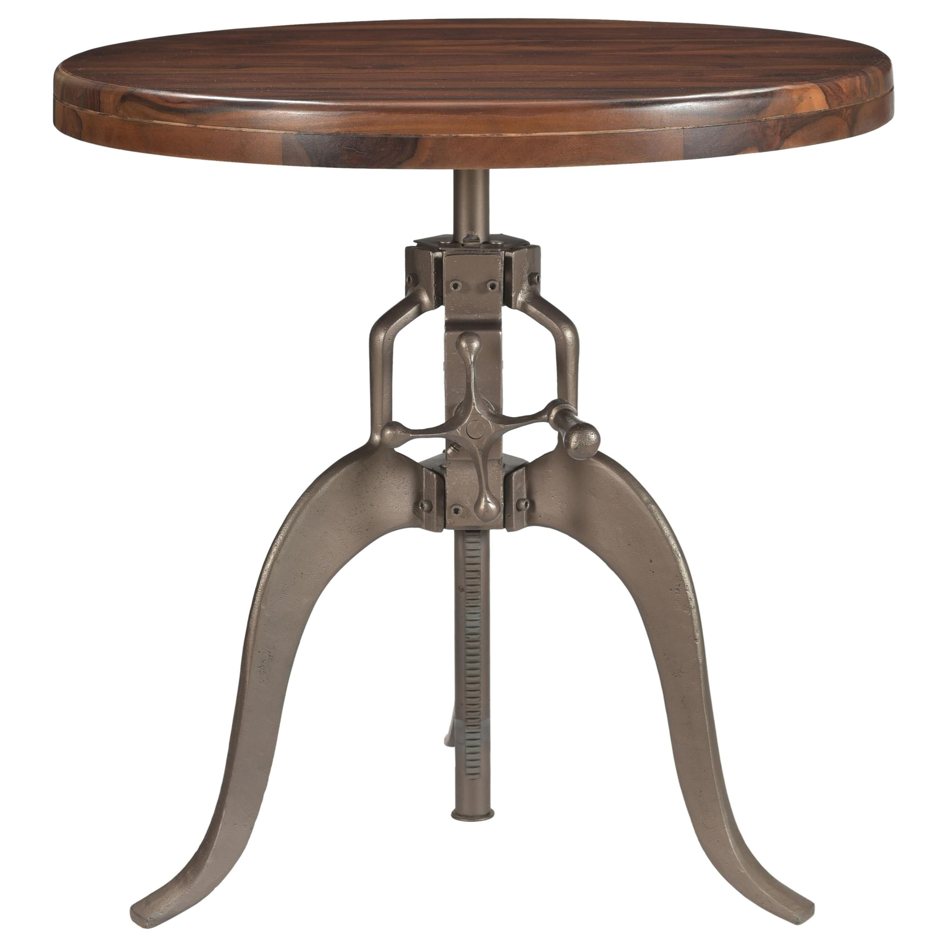 Round Adjustable Pub Table